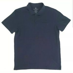 Mack Weldon Mens Shirt Short Sleeve Polo Navy Blue